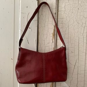 Fossil small red leather bag